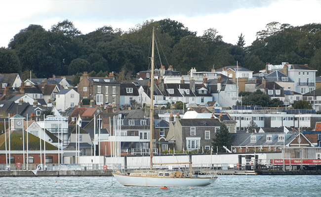 Seafront properties in Cowes, Isle of Wight